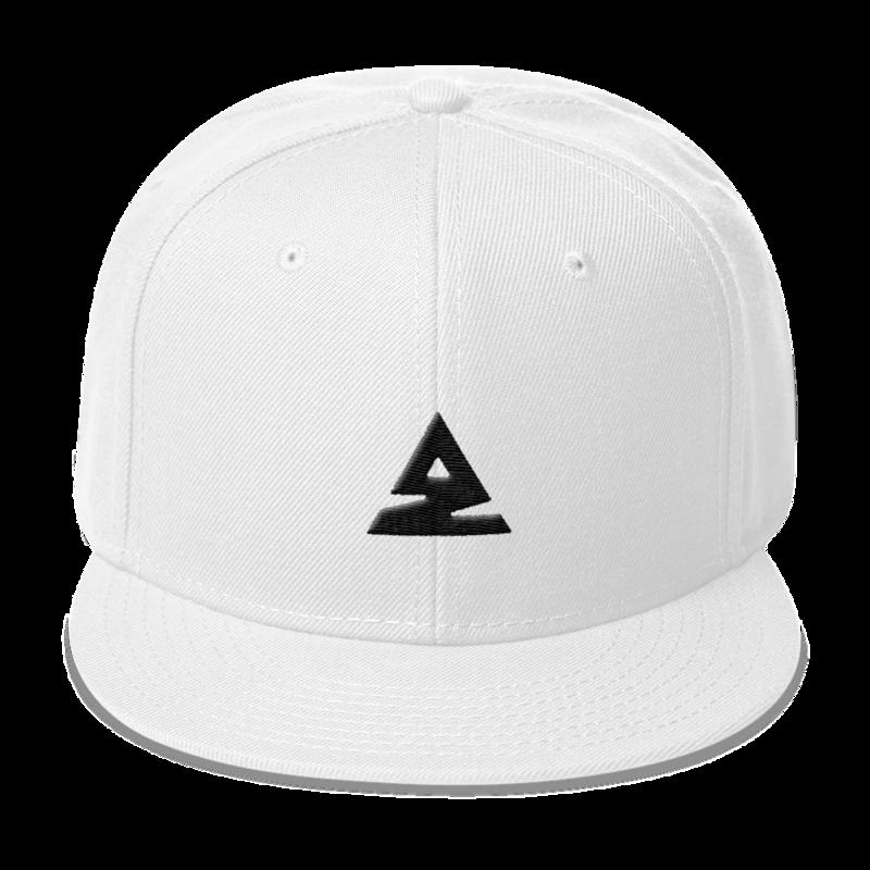 Icon Snapback Hat - White - Alex Zedra 0e3a47ae2a4