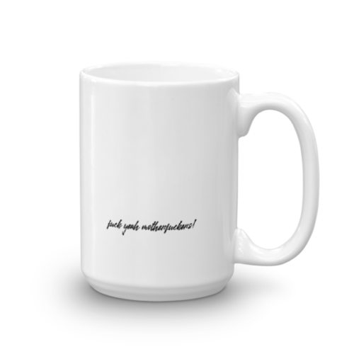 Splat Mug – Black (R) 15oz Back