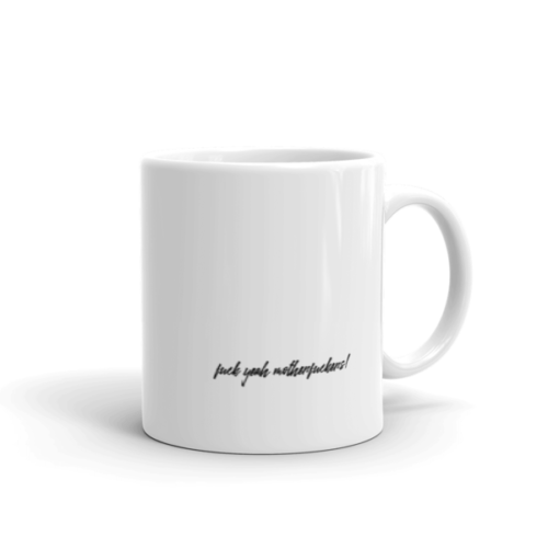Splat Mug – Black (R) 11oz Back