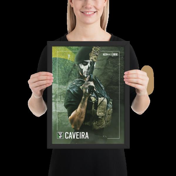 R6S Caveira Framed Poster